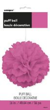Puff Ball Decoration In Hot Pink